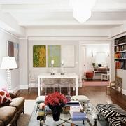 纯情洁白色调客厅