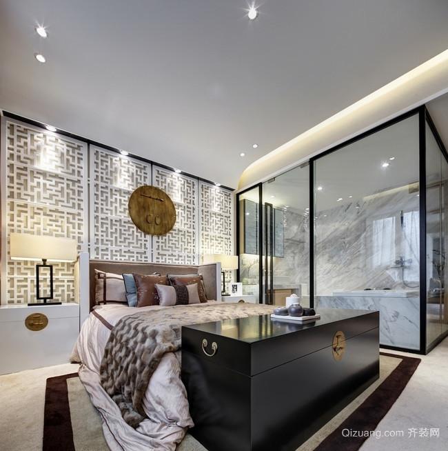 高冷的银灰色中式风格家居装修效果图