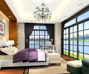 两室一厅迷人浪漫的北美田园风情卧室装修效果图