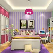卧室紫色条纹背景墙