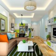 清新自然的客厅图