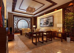 辉煌的金色中式风格家居装修效果图