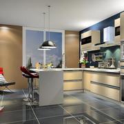 复式楼厨房整体橱柜图