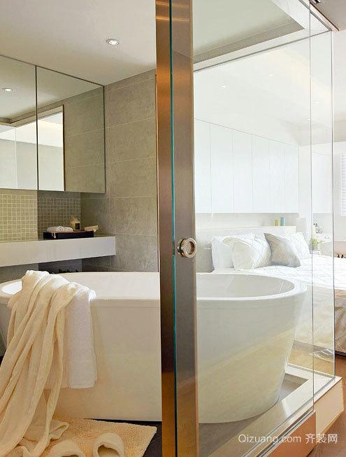 2015清新简约新房卫生浴室间装修效果图
