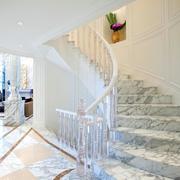 瓷砖纹路楼梯展示