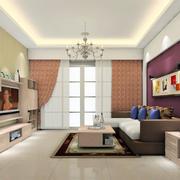 客厅锃亮的地板展示