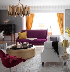 高贵典雅的紫色混搭风格家居装修效果图