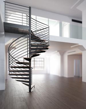 2015现代北欧旋转楼梯装修效果图