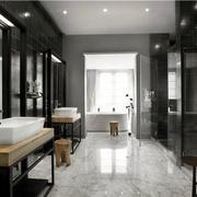有气度的男士公寓浴室