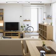家居日式原木色客厅