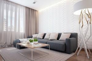 120平米北欧冷色个性公寓装修效果图