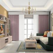 客厅落地窗帘欣赏