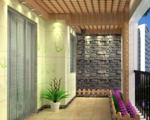 2015环境优美的都市入户花园装修效果图大全