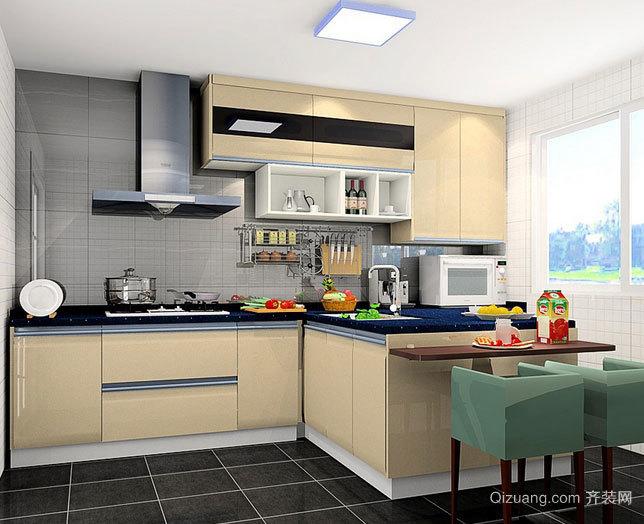 米白色朴素15平米小复式楼厨房装修效果图