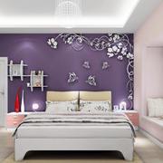 紫色卧室背景墙装饰