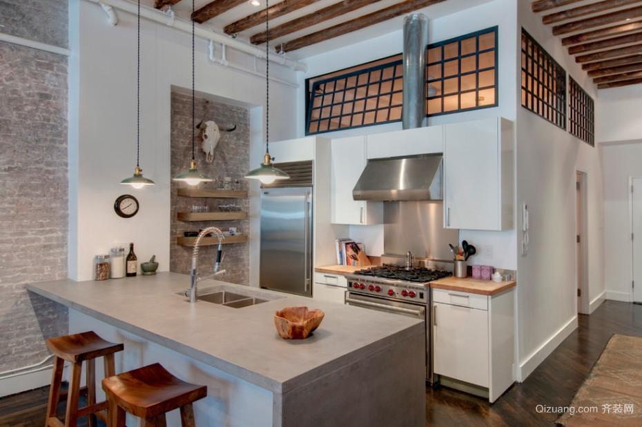 受人喜爱的简约风格厨房橱柜设计效果图
