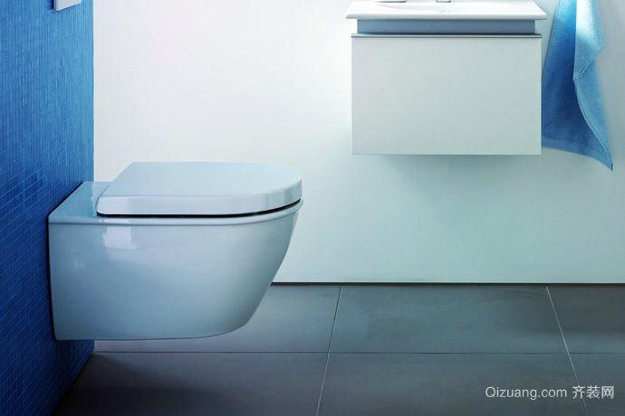 简易布置的白色系列浴室装修效果图