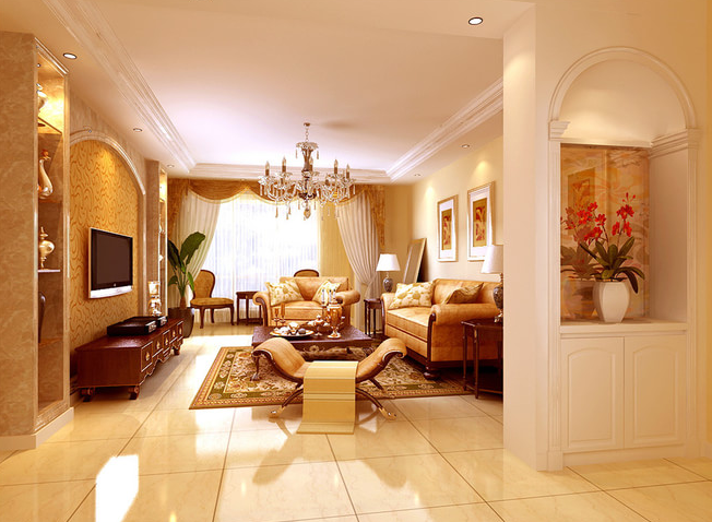 金碧辉煌的欧式风格家居装修效果图
