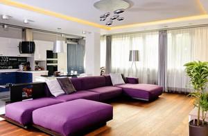 家居客厅浪漫紫色沙发