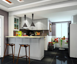 半开放式厨房吧台
