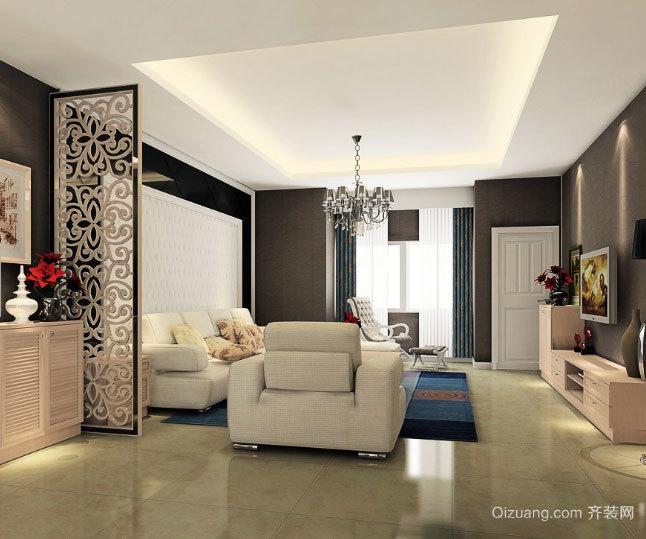 小户型适用的欧式精美简约客厅装修效果图