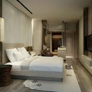 酒店简约卧室图