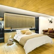 阁楼卧室背景墙展示