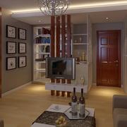 小公寓温馨时尚电视背景墙