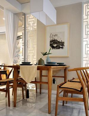 温馨恬淡的米黄色新中式家居装修效果图
