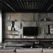 家居客厅粗犷电视背景设计