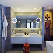 浴室双人洗手台展示