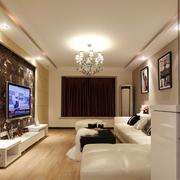 客厅时尚的电视墙