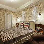 卧室壁纸图案装饰