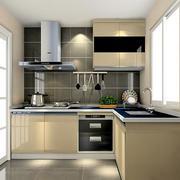 复式楼L字型厨房图片