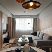 别墅原木色客厅设计