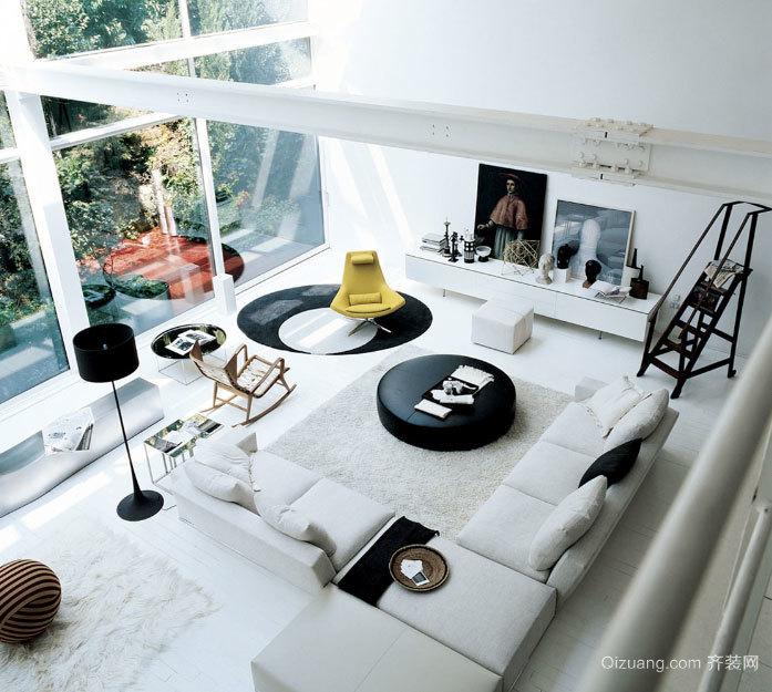 120平米个性鲜明的后现代简约风格客厅装修效果图