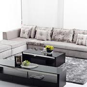 别墅中性冷色客厅沙发