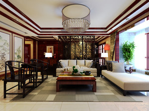 家居中式风格客厅