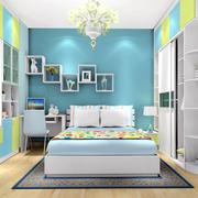 卧室墙壁置物柜图片
