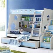 蓝白相间的高低床