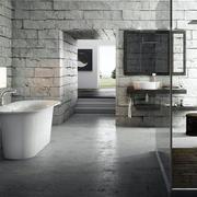 粗犷的浴室装饰图