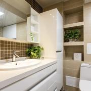 卫浴间置物柜展示图