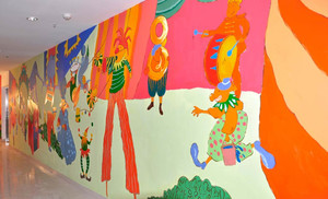 学校走廊壁画赏析