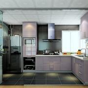 紫色个性时尚的厨房