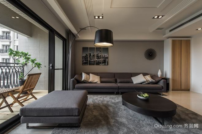 低调的灰色混搭风格家居装修效果图