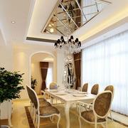 餐厅玻璃吊顶展示