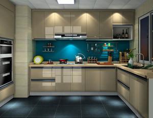 两室一厅欧式简约大方厨房装修效果图