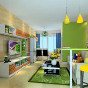 绿色时尚的客厅