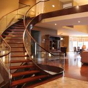 楼梯玻璃扶手图片