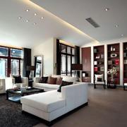 大户型中式客厅图